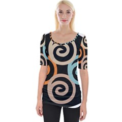 Abroad Spines Circle Wide Neckline Tee by Mariart