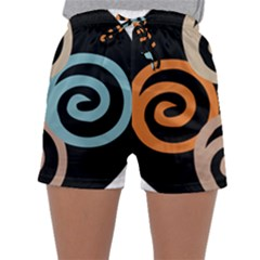 Abroad Spines Circle Sleepwear Shorts by Mariart