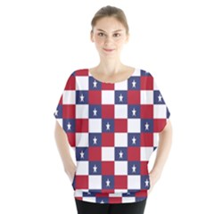 American Flag Star White Red Blue Blouse by Mariart