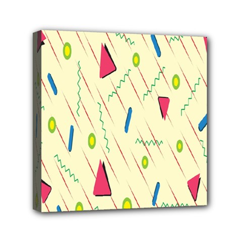 Background  With Lines Triangles Mini Canvas 6  X 6  by Mariart