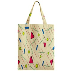 Background  With Lines Triangles Zipper Classic Tote Bag by Mariart