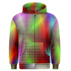 Abstract Rainbow Pattern Colorful Stars Space Men s Zipper Hoodie