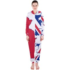 Britain Flag England Nations Hooded Jumpsuit (ladies)  by Mariart