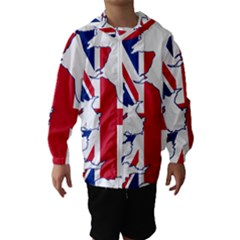 Britain Flag England Nations Hooded Wind Breaker (kids) by Mariart