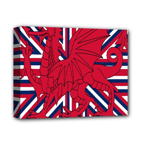 Alternatively Mega British America Red Dragon Deluxe Canvas 14  X 11  by Mariart