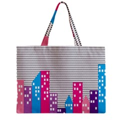 Building Polka City Rainbow Zipper Mini Tote Bag by Mariart
