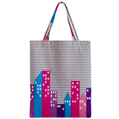 Building Polka City Rainbow Zipper Classic Tote Bag by Mariart