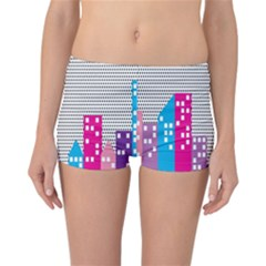Building Polka City Rainbow Reversible Boyleg Bikini Bottoms