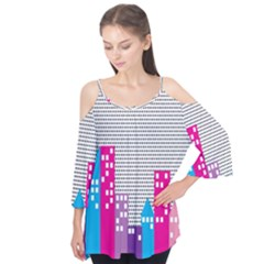 Building Polka City Rainbow Flutter Tees by Mariart