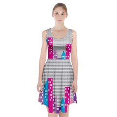 Building Polka City Rainbow Racerback Midi Dress by Mariart