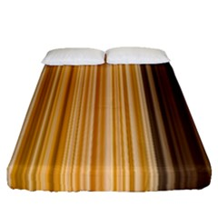 Brown Verticals Lines Stripes Colorful Fitted Sheet (queen Size) by Mariart