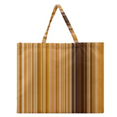 Brown Verticals Lines Stripes Colorful Zipper Large Tote Bag by Mariart