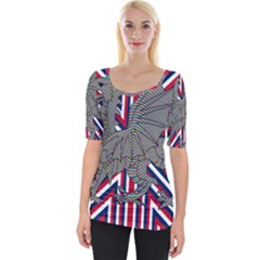 Alternatively Mega British America Dragon Illustration Wide Neckline Tee by Mariart