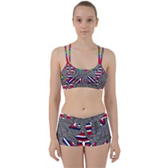 Alternatively Mega British America Dragon Illustration Women s Sports Set