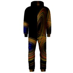 Wondrous Trajectorie Illustrated Line Light Black Hooded Jumpsuit (men)  by Mariart