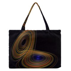 Wondrous Trajectorie Illustrated Line Light Black Zipper Medium Tote Bag by Mariart