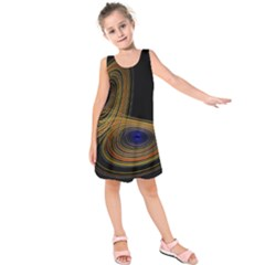 Wondrous Trajectorie Illustrated Line Light Black Kids  Sleeveless Dress by Mariart