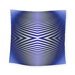 Blue Lines Iterative Art Wave Chevron Square Tapestry (small) by Mariart