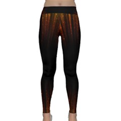 Colorful Light Ray Border Animation Loop Orange Motion Background Space Classic Yoga Leggings