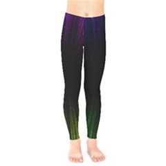Colorful Light Ray Border Animation Loop Rainbow Motion Background Space Kids  Legging by Mariart