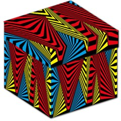 Door Pattern Line Abstract Illustration Waves Wave Chevron Red Blue Yellow Black Storage Stool 12