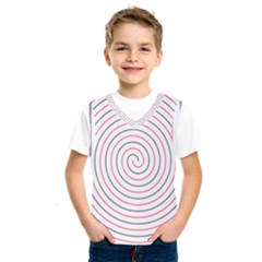Double Line Spiral Spines Red Black Circle Kids  Sportswear by Mariart