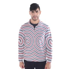 Double Line Spiral Spines Red Black Circle Wind Breaker (men) by Mariart