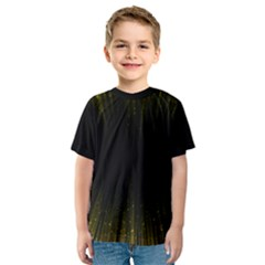 Colorful Light Ray Border Animation Loop Yellow Kids  Sport Mesh Tee by Mariart