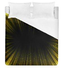 Colorful Light Ray Border Animation Loop Yellow Duvet Cover (queen Size) by Mariart