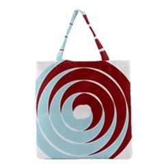 Double Spiral Thick Lines Blue Red Grocery Tote Bag by Mariart