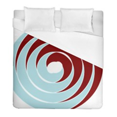 Double Spiral Thick Lines Blue Red Duvet Cover (full/ Double Size) by Mariart