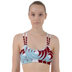 Double Spiral Thick Lines Blue Red Line Them Up Sports Bra