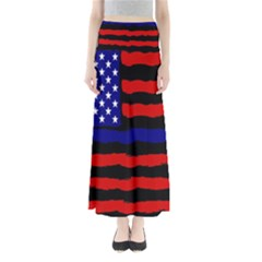 Flag American Line Star Red Blue White Black Beauty Full Length Maxi Skirt by Mariart