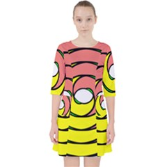 Double Spiral Thick Lines Circle Pocket Dress