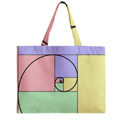 Golden Spiral Logarithmic Color Mini Tote Bag
