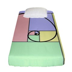 Golden Spiral Logarithmic Color Fitted Sheet (single Size)