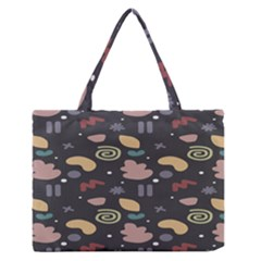 Funky Pattern Polka Wave Chevron Monster Zipper Medium Tote Bag by Mariart