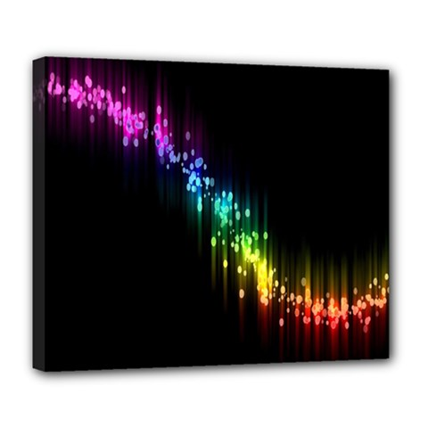 Illustration Light Space Rainbow Deluxe Canvas 24  X 20   by Mariart