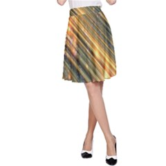 Golden Blue Lines Sparkling Wild Animation Background Space A Line Skirt by Mariart