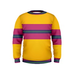 Layer Retro Colorful Transition Pack Alpha Channel Motion Line Kids  Sweatshirt by Mariart