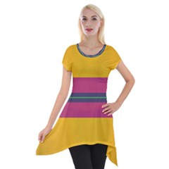 Layer Retro Colorful Transition Pack Alpha Channel Motion Line Short Sleeve Side Drop Tunic by Mariart