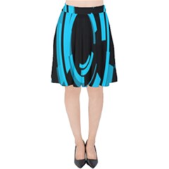 Graphics Abstract Motion Background Eybis Foxe Velvet High Waist Skirt by Mariart