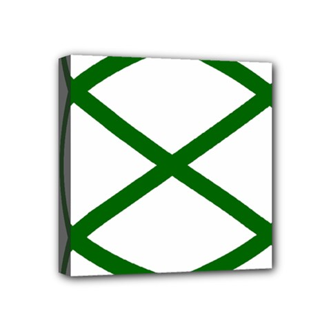 Lissajous Small Green Line Mini Canvas 4  X 4  by Mariart