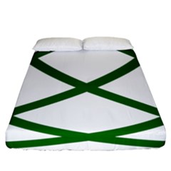 Lissajous Small Green Line Fitted Sheet (california King Size)