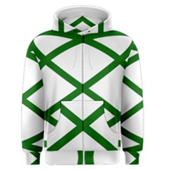 Lissajous Small Green Line Men s Zipper Hoodie by Mariart