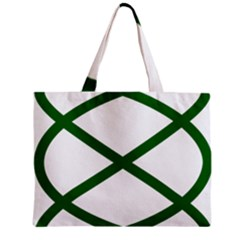 Lissajous Small Green Line Zipper Mini Tote Bag by Mariart
