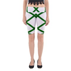 Lissajous Small Green Line Yoga Cropped Leggings by Mariart