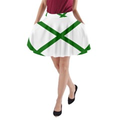 Lissajous Small Green Line A Line Pocket Skirt by Mariart