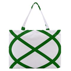 Lissajous Small Green Line Zipper Medium Tote Bag by Mariart