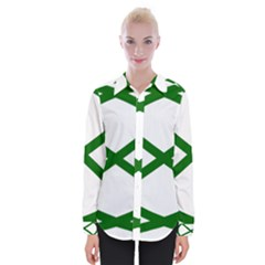Lissajous Small Green Line Womens Long Sleeve Shirt by Mariart